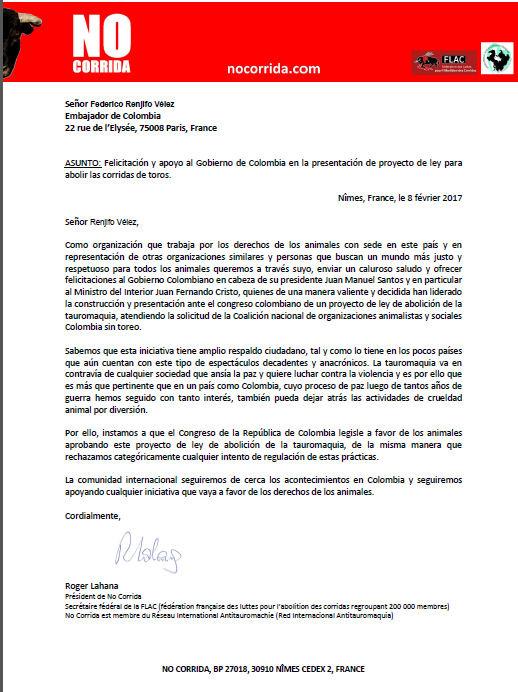 colombie ambassade NC