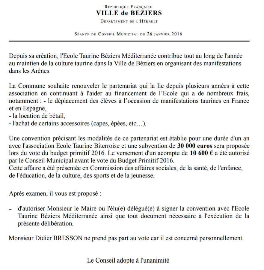 école taurine Béziers 16