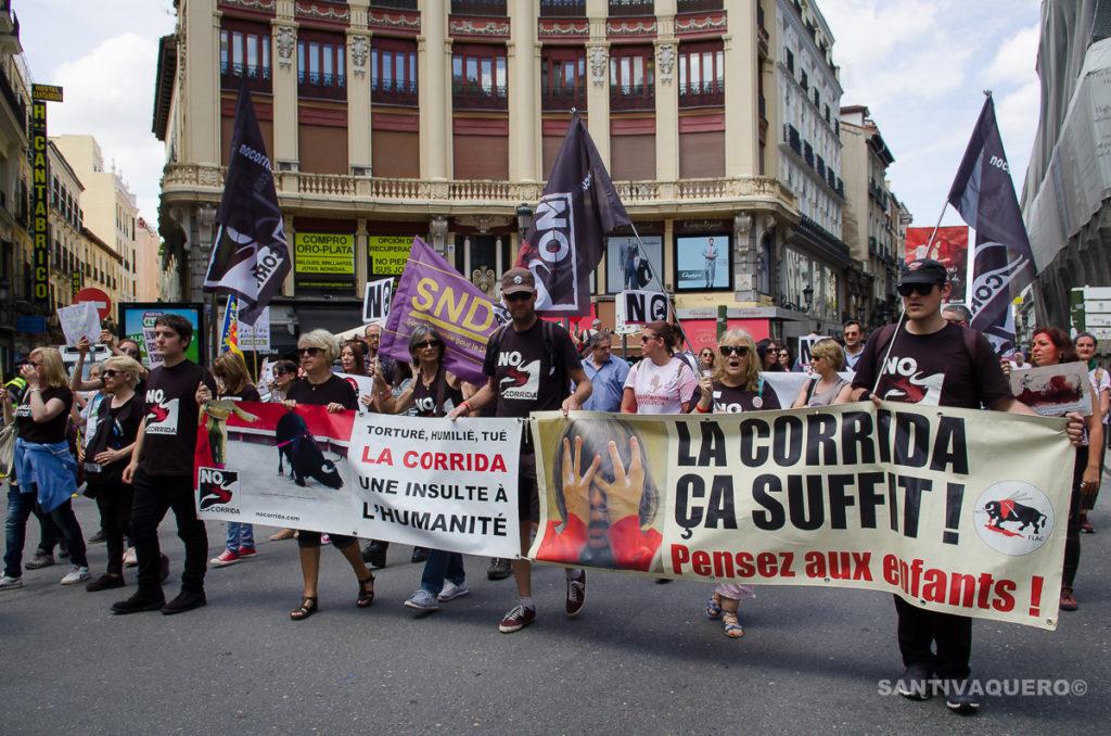 Manifestación en Madrid contra la tauromaquia y el maltrato animal