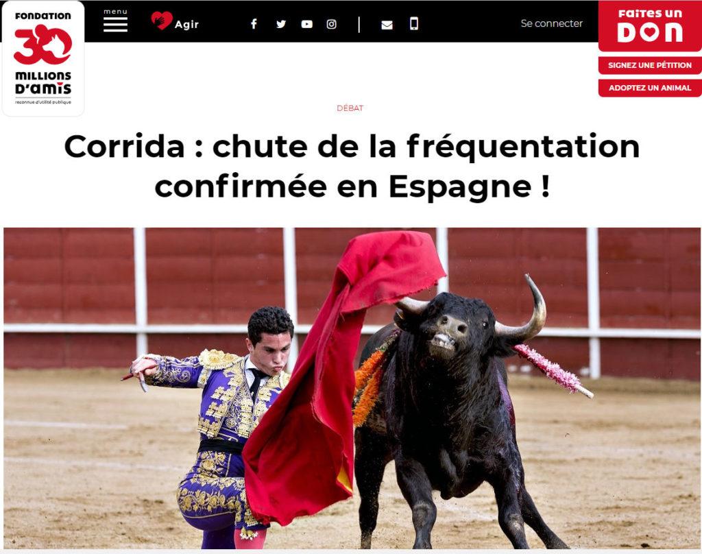 30M chute corridas espagne