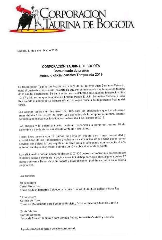 bogota 2019
