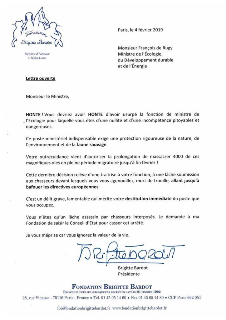lettre BB de Rugy